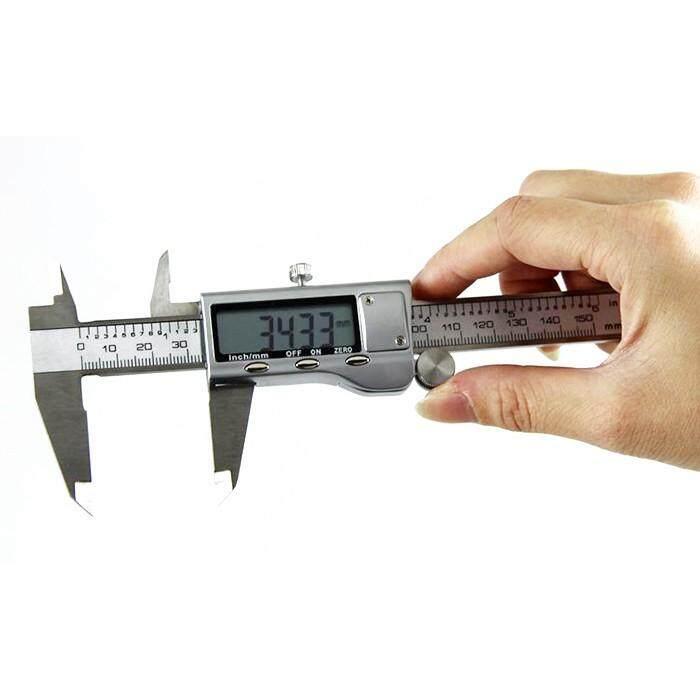 Digital Electronic Vernier Caliper Gauge Micrometer Tool Plastic EVERSO 150MM 6inch LCD