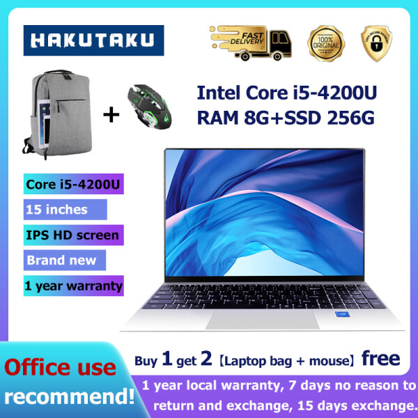 2021 brand new laptop W10 system Intel Core i5-4200CPU 1920x1080 DDR3 8GB RAM 256GB SSD ultra-thin laptop AST office laptop Cheap laptop 1 year local warranty ASUS factory production and free gifts Malaysia