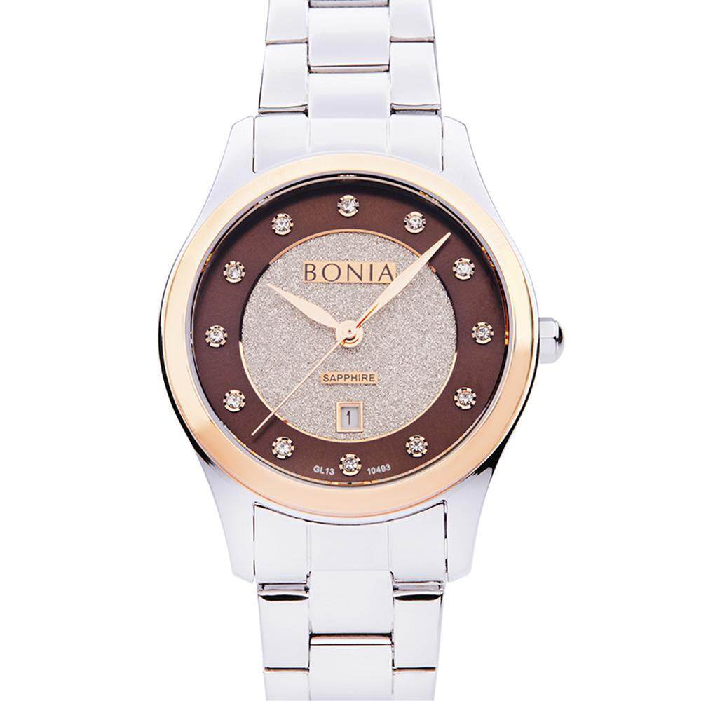 Bonia Rose Gold with Silver Brown Pasquel Ladies' Watch