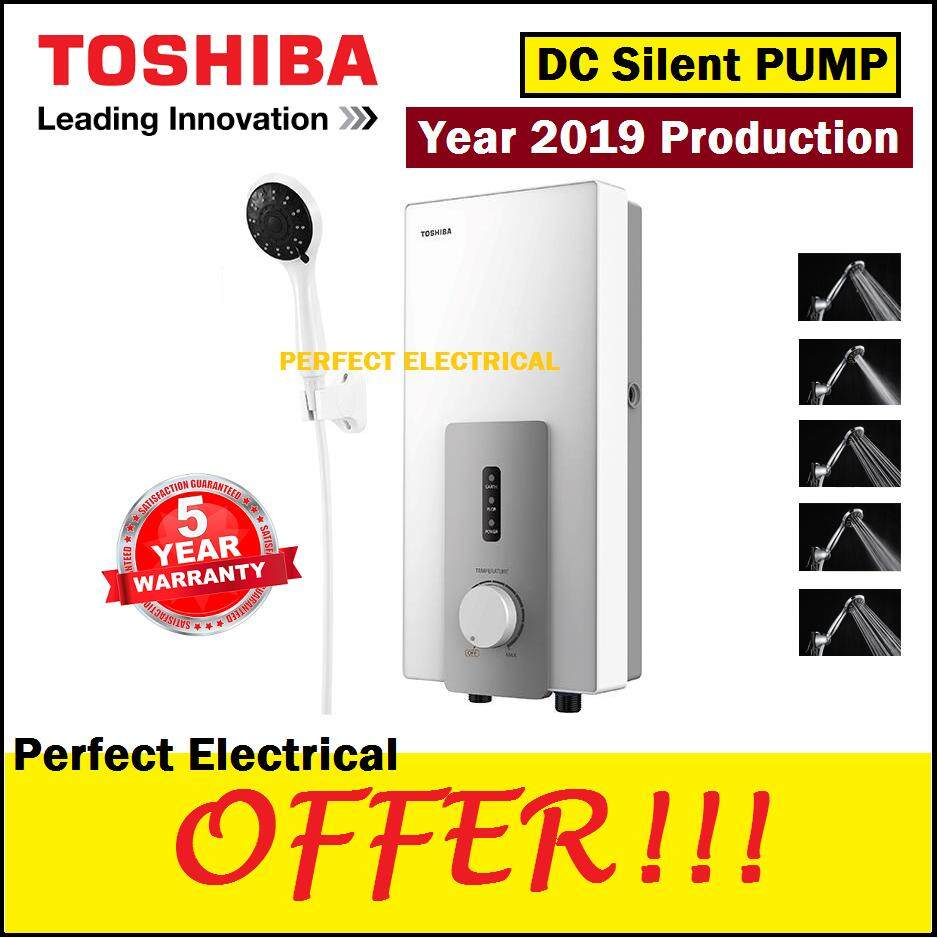 Toshiba Dc Pump Inveter Silent Instant Shower Water Heater Dsk38s3mw (white) By Perfect Electrical Store.