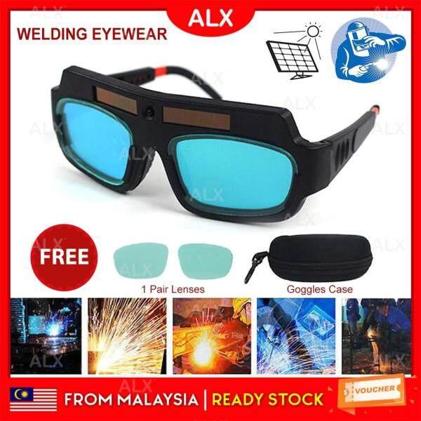 ALX Malaysia Safety Solar cells Anti-glare Goggles Mask Auto Darkening Welding Eyewear Eyes Safety Protection Welder Glasses