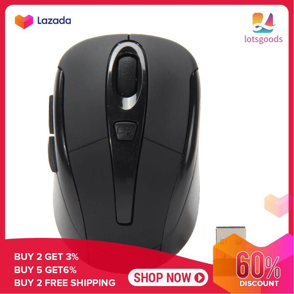 {9.9 Hot Sale Festival}Portable 2.4G Wireless Optical Mouse Mice For Computer PC (Black)