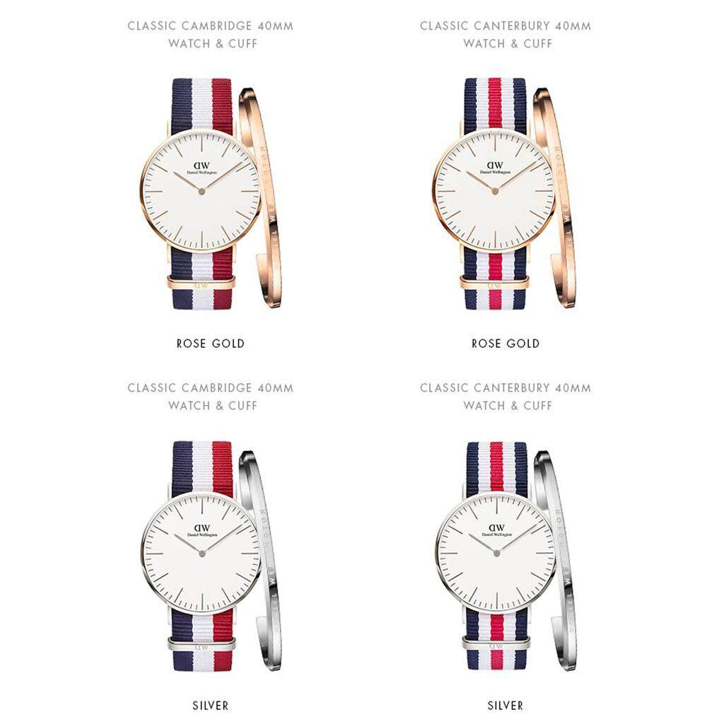(Ready Stock) Original Daniel Wellington_men watch dw watch male 40mm textured tape + dw bracelet Malaysia