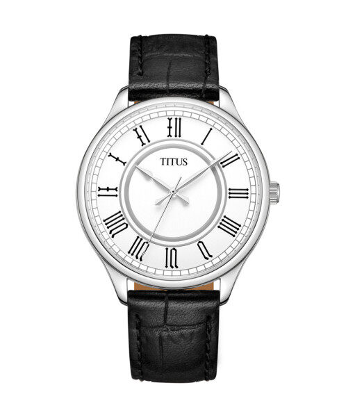 Solvil et Titus W06-03128-001 Womens Quartz Analogue Watch in Silver White Dial and Leather Strap Malaysia