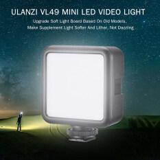 Ulanzi VL49 Mini Đèn LED Quay Video Đèn Chụp Ảnh 6W Thay Đổi Độ Sáng 5500K CRI95 + Được Xây Dựng-Trong Pin Lithium Sạc Lại Được Với Cold Shoe Núi Cho Canon Nikon DSLR Của Sony Máy Ảnh