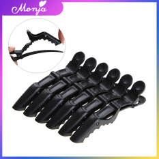 6 Cái/gói Hair Salon Nhựa Cá Sấu Barrette Phần Tóc Clip Grip Kẹp Tóc Kẹp Kẹp Clip Phụ Kiện Công Cụ-Đen