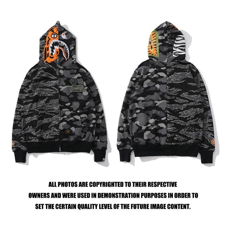 c3b61c07 BAPE Men Hoodies Sweatshirts Hoodie Jackets Fashion Shark Head Tiger Head  Sweater Clothing