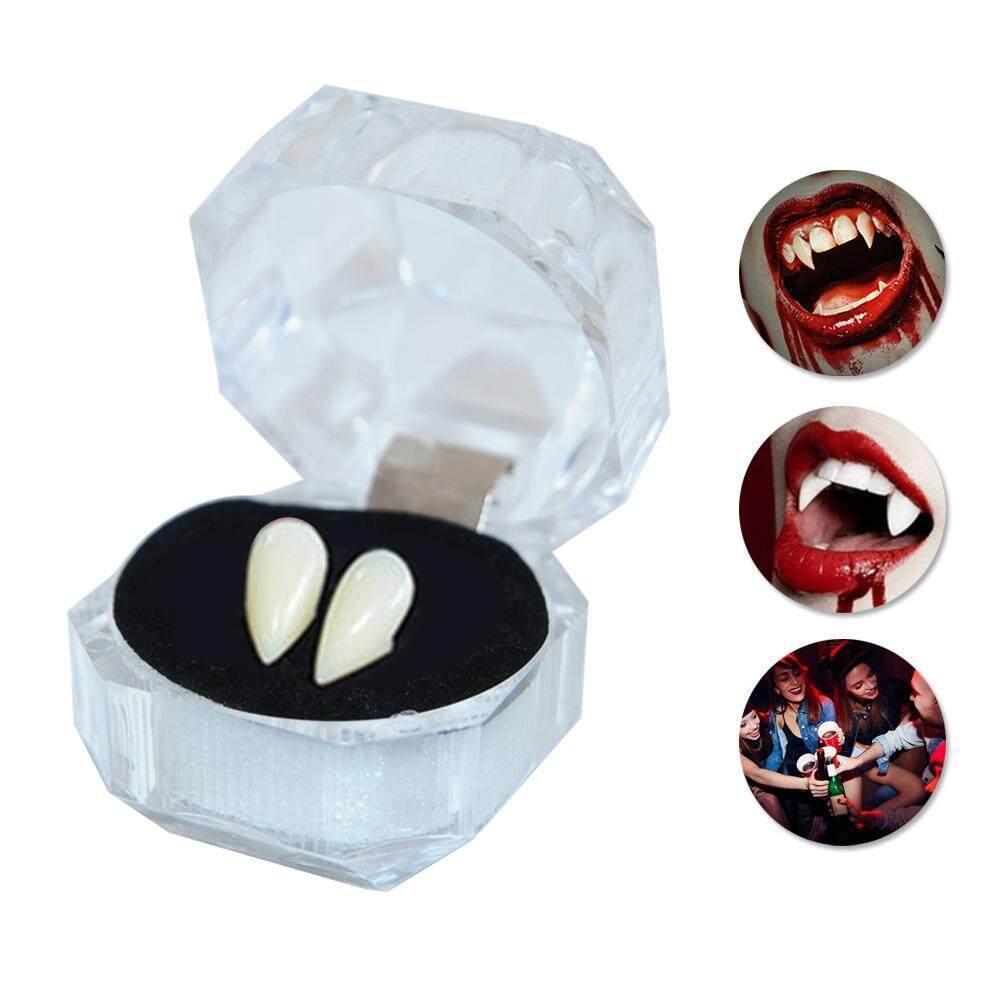 LightSmile 1 Pair Halloween Dentures Party Cosplay Prop Decoration Vampire  Denture Ghost Devil Fangs Werewolf Teeth Box Horror False Teeth