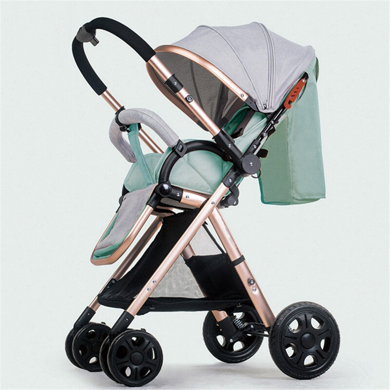 3 in 1 Baby Stroller Lightweight Folding Cheap Baby Car 2 in 1 Four-Wheel Cart Sit Lie Baby Two-Way Stroller Singapore