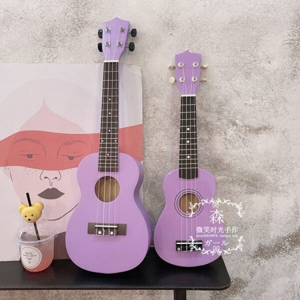 ■☋  Ukulele taro purple wood beginners introduction to Mr Kerry in 21 23 inches lily little guitar Ukraine Malaysia