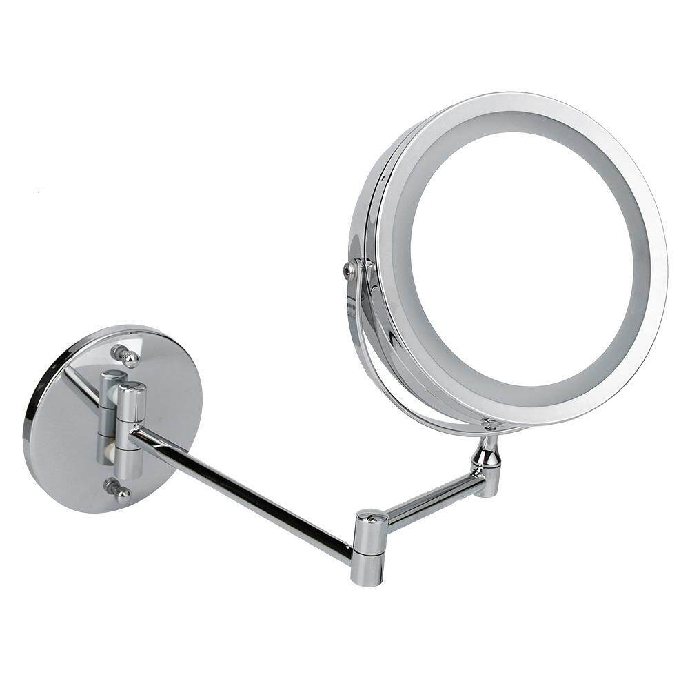 〔questionno〕8 inch Make Up Mirror Bathroom 10X Magnifier Wall Mounted Cosmetic Mirror(READY STOCK & COD & LOW PRICE & HIGH QUALITY)