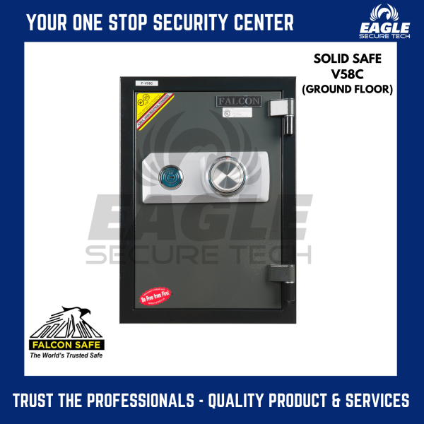 [PRE-ORDER] Falcon Safe Combination Digital Solid Fire Proof Safe Box ( V58C or V58E )