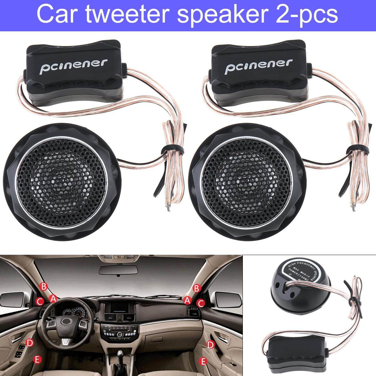 One Pair 150w Yh T280 High Efficiency Mini Dome Tweeter Speakers For Car Audio System