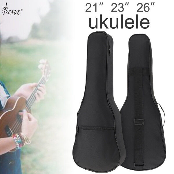SLADE 21 / 23 / 26 Inch Black Portable Ukulele Bag Soft Case Gig Cotton Waterproof Bag Malaysia