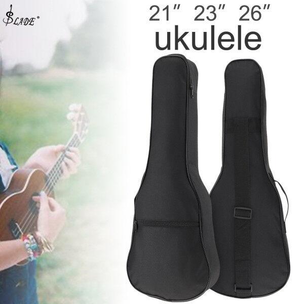 SLADE 21 / 23 / 26 Inch Black Portable Ukulele Bag Soft Case Gig Cotton Waterproof Bag Malaysia