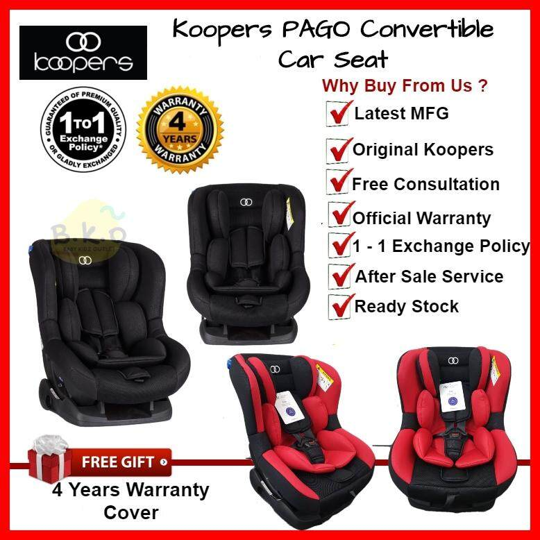 Koopers Pago Convertible Car Seat 0 - 18Kg No Isofix with 4 Year Warranty Latest Manufacturing Date Original Koopers image