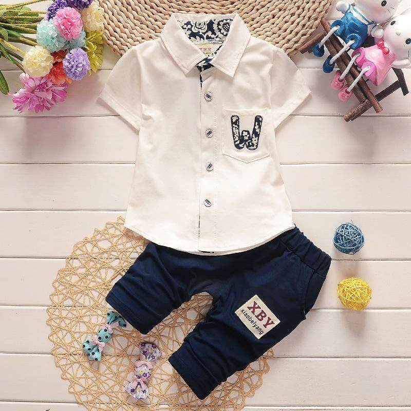 22063e8060716 Product details of IENENS Summer 2PC Kids Baby Boys Clothes Clothing Sets Infant  Boy Shirt + Pants Outfits Suits Child Cotton Tracksuits