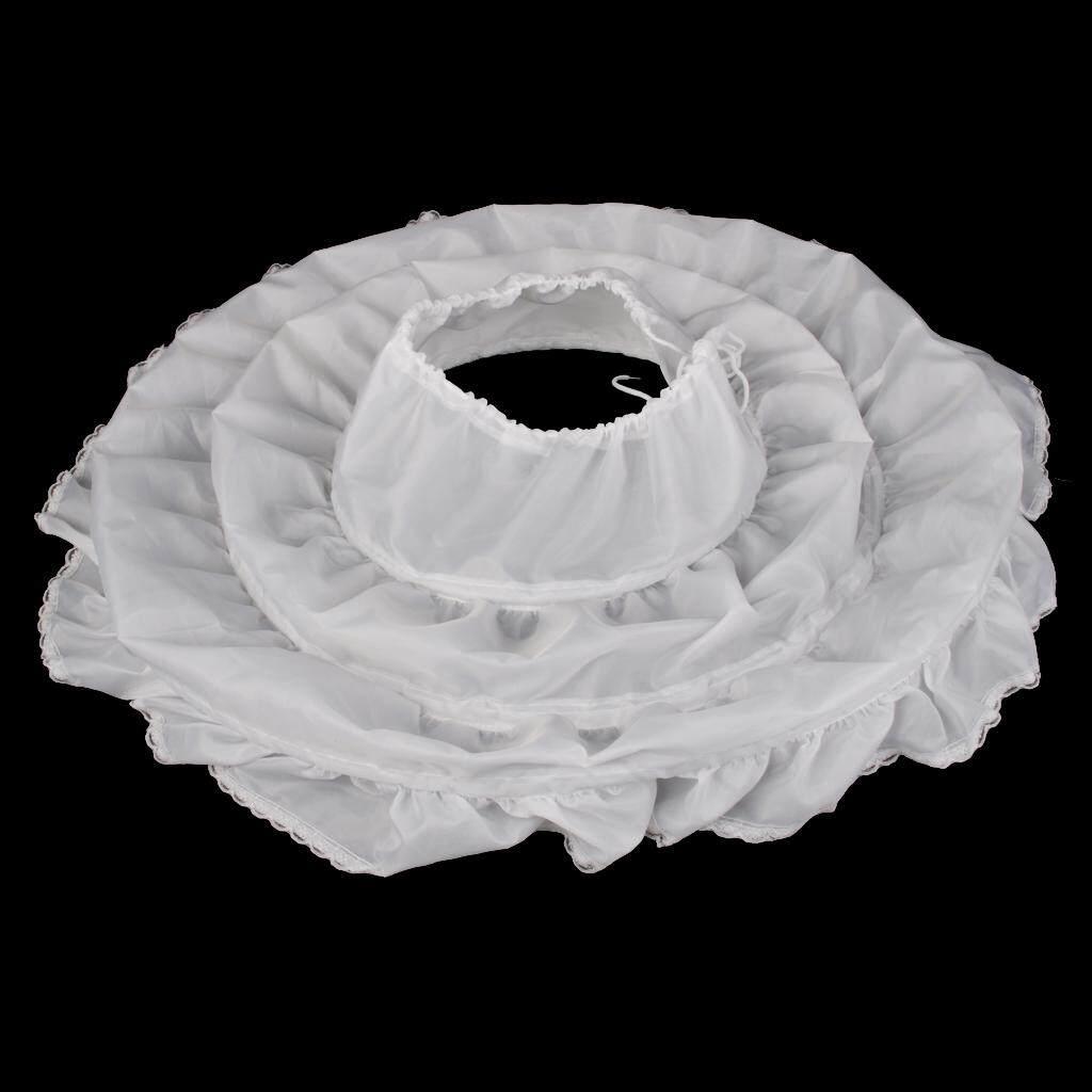 Fenteer Age 2-14 Flower Girl 3-Hoop A-Line Crinoline Petticoat Children Kids White By Fenteer.
