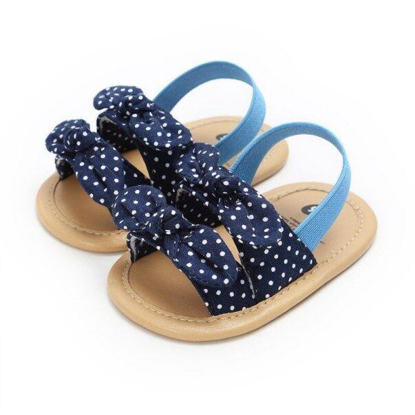 Giày Em Bé 2020 Dép Nữ Mùa Hè Cho Nữ Giày Sơ Sinh Nơ Bé Gái Dép Đi Biển Kẻ Sọc Giày Công Chúa giá rẻ