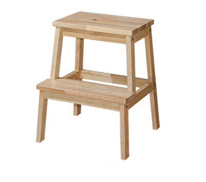 Full Solid Wood 2 Step Stool Chair