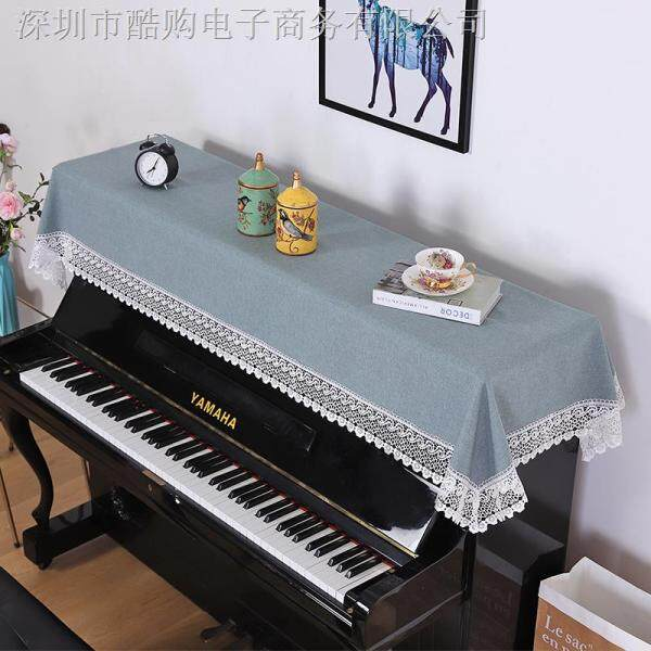 Piano piano cover towel contemporary and contracted 88 key electric piano keyboard general cover towel cloth art piano cover half cover  Style  Korea Malaysia