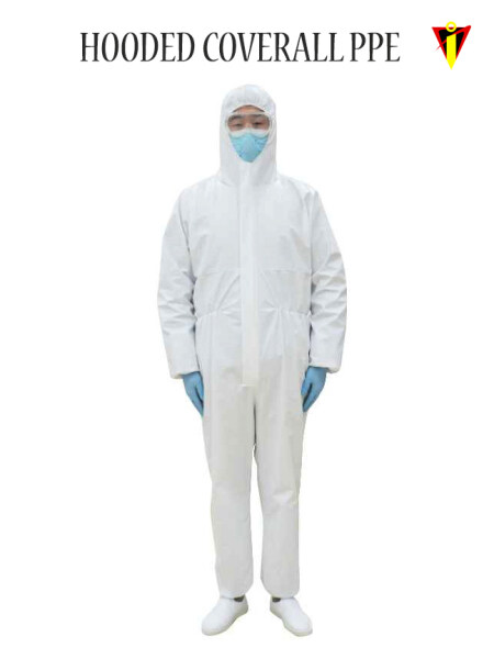 PPE Disposable Non-Woven Medical Hooded Coverall Protective Suit Protective Clothing Overall