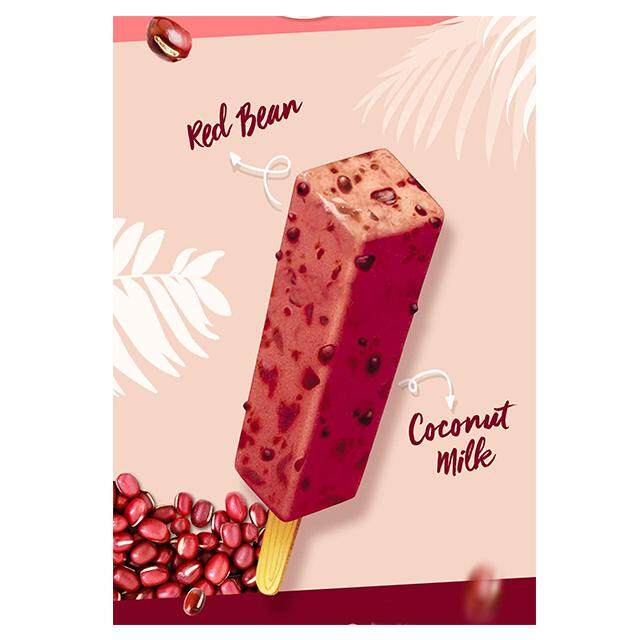 (KL & Selangor Delivery Only) F&N Kings Potong Red Bean Flavoured Ice Cream (6's x 60ml) X 3 Box