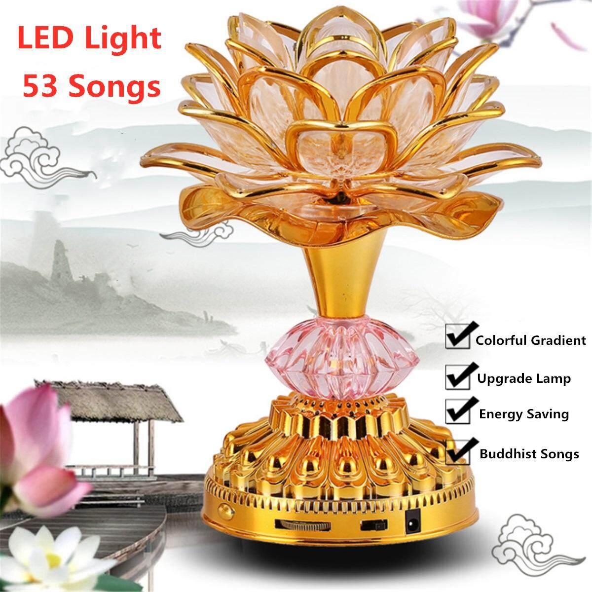 Music Color Changing Lamp Lampe Decoration Farben Led 53 Lied Buddha Musik Song Lotus Machine Deko 7 Buddhism Buddhismus w0OknP