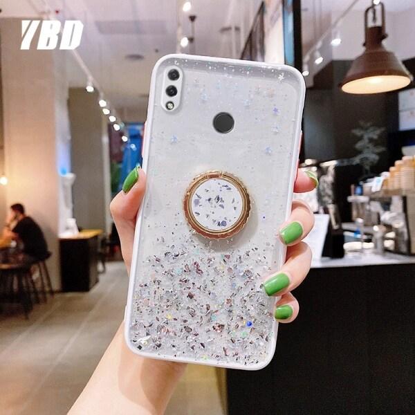 Ốp Điện Thoại YBD, Ốp Lưng Ngôi Sao Lấp Lánh Cho Huawei Nova 3i 3E 4 4E Có Giá Đỡ Điện Thoại