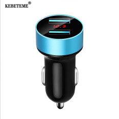Củ sạc nhanh 3.4A 5V cổng USB kép KEBETEME cho xe hơi với màn hình LCD có đèn LED báo hiệu, đầu ra cao 3.1A, dùng cho các điện thoại thông minh và các thiết bị kỹ thuật số, giá siêu tốt – INTL