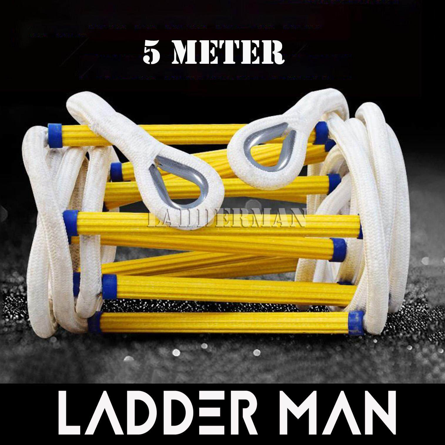 5 Meter Emergency Fire Escape Safety Rescue Rope Ladder