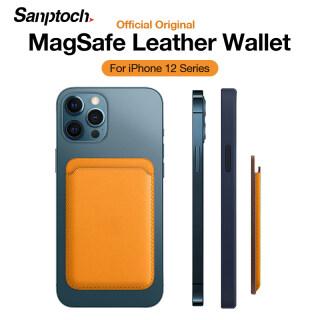 Ốp Lưng Sanptoch Cho iPhone 12 Pro Max Ví Da Có Giá Đỡ Từ Tính Mini Ví Đựng Thẻ MagSafe thumbnail