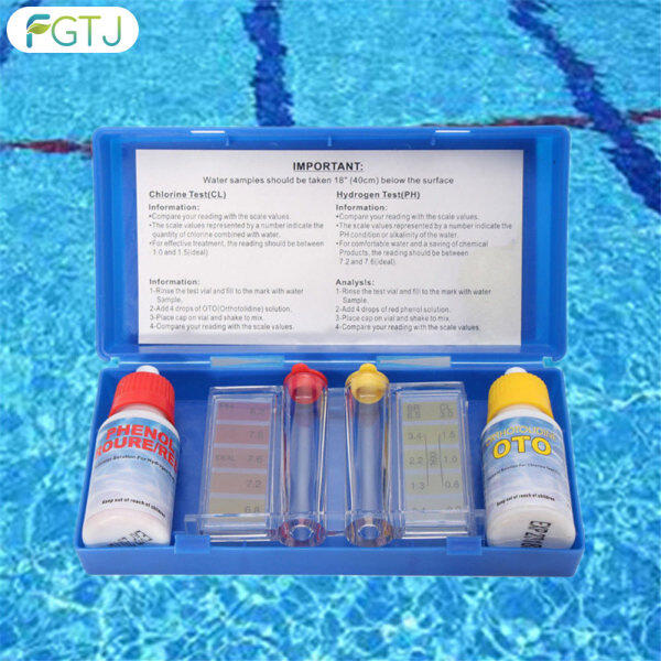 1 Set PH Chlorine Water Quality Test Kit Hydrotool Testing Kit Accessories for Swimming Pool