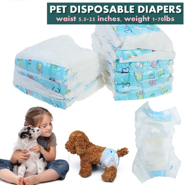 【sss Size】10pcs Pet Soft Diapers Female - Disposable Dog Diapers for Girl Puppy Dogs Cat