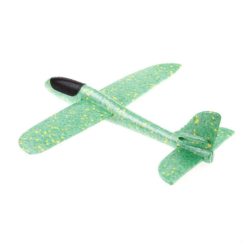 Graceful 38CM foam airplane hand launch fly glider aircraft throw plane  model toy Green
