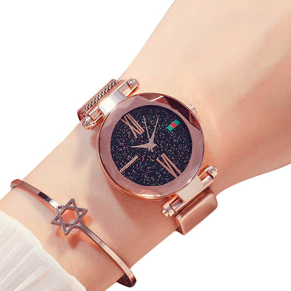 W&R Women Ladies Watch Sky Watches, with Magnetic Mesh strap Unique Classic luxury Analogue Wrist Watches Female Watches Diamond Cutting Glass Mirror Malaysia