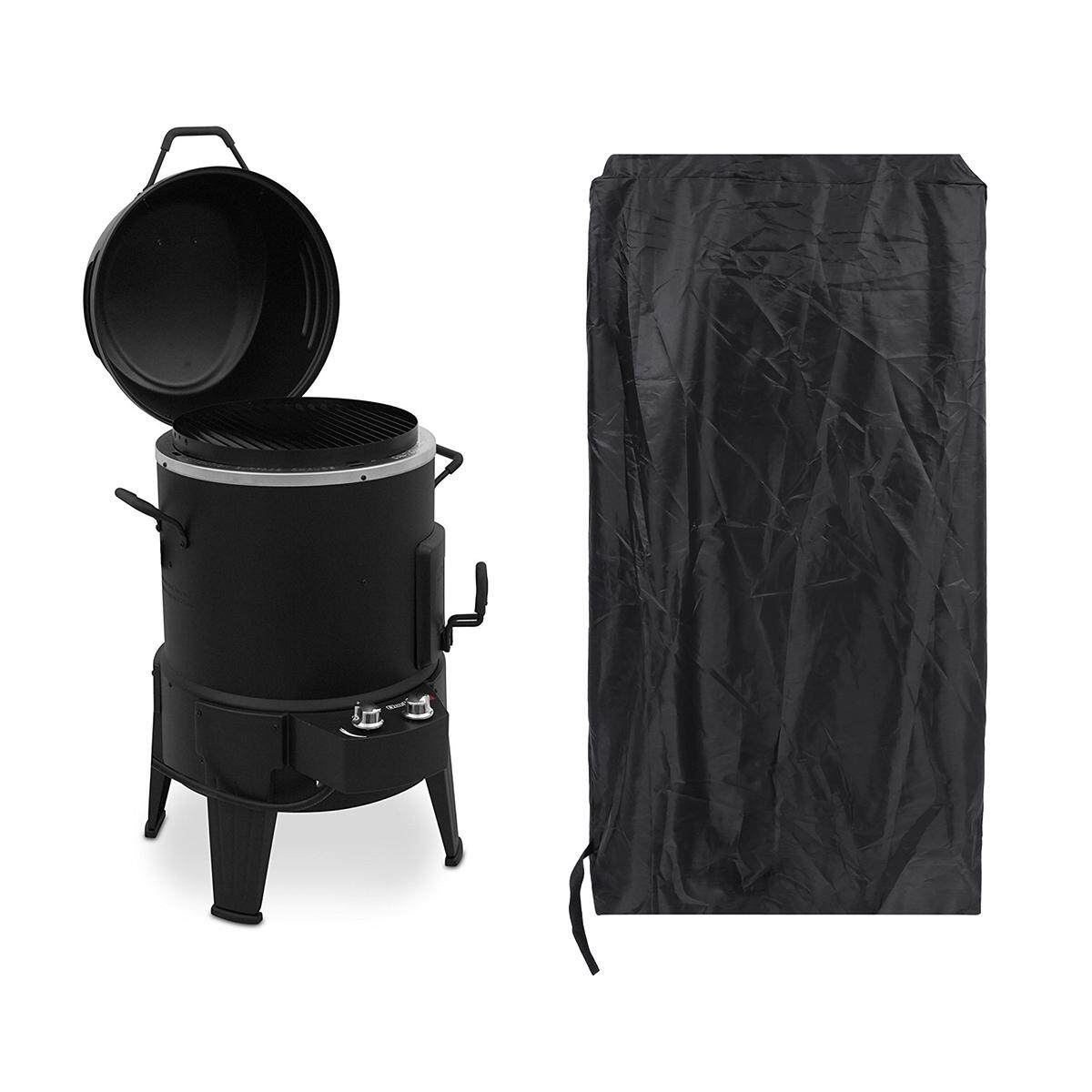Round Waterproof BBQ Heavy Cover Kettle Barbeque Grill Outdoor Garden Protector
