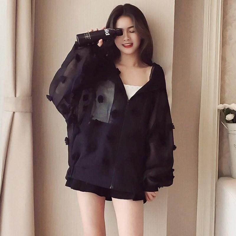 Tabir Surya Wanita Musim Semi Dan Musim Panas Baru Korea Versi Bf Longgar Eugene Benang Tipis Wanita Pakaian Baju Luaran Pendek Fashion Homestead Siswa By New World Store98.