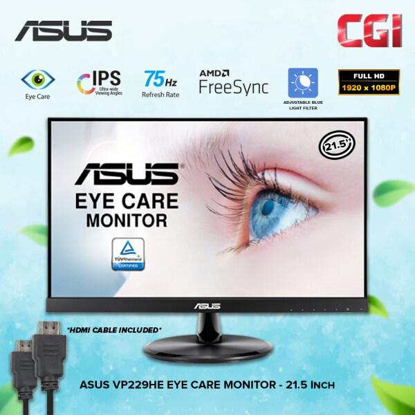 Asus VP229HE 21.5 FHD IPS 75Hz 5ms Adaptive Sync FreeSync Frameless Eye Care Monitor Malaysia