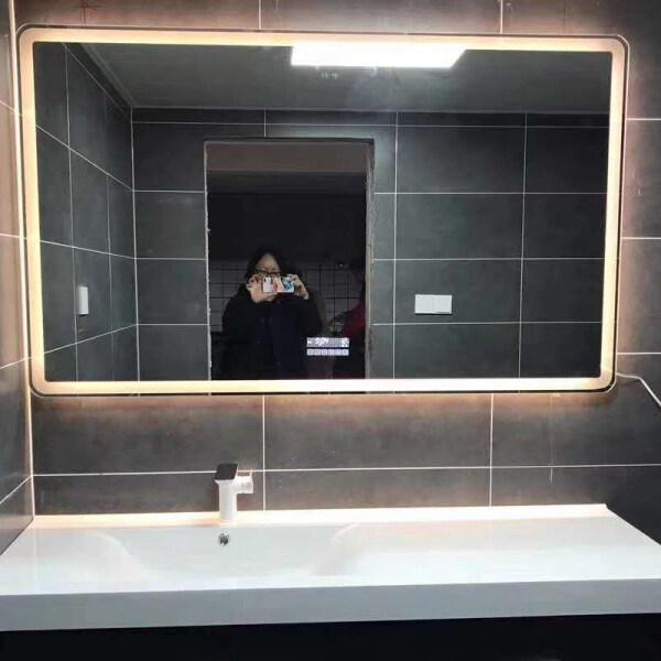 Modern Bathroom Wall Mounted Smart Led Mirror With defogger