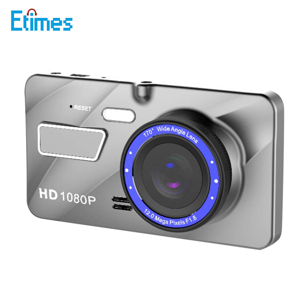 Etimes 4 Inch Driving Recorder Car On-Dash Mounted Cameras LCD Display Video Camera Wide Angle