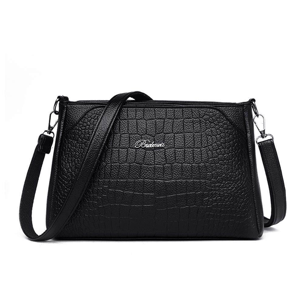 BW#A Waterproof Solid Color Shoulder Handbags Women PU Leather Crossbody Bags