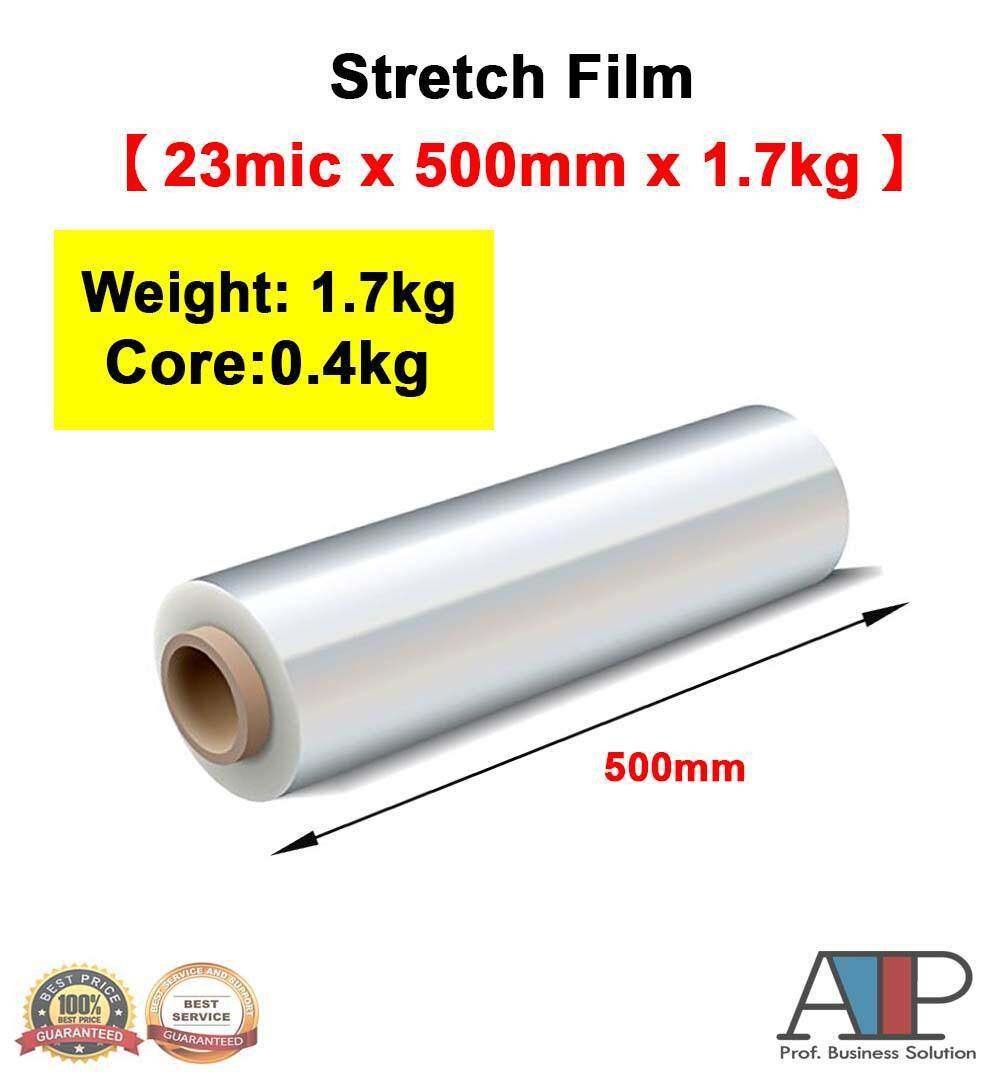 500mm Clear Stretch Film/wrapping Firm/plastic Pallet Wrap( 1.7kg X 1 Roll ) By Atp Professional Business Solution.
