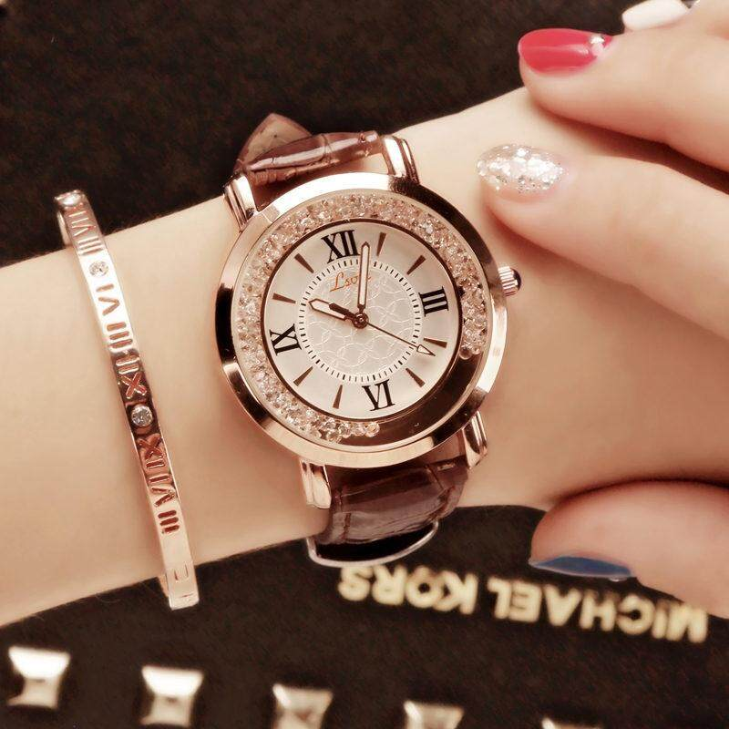 Womens Korean-Style Fashion Luxury Rhinestone Quartz Watch By Koleksi Taobao.