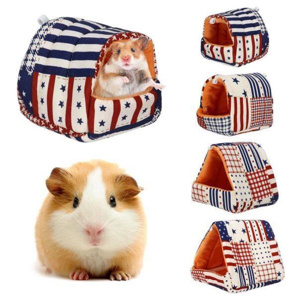 SANTO Con thỏ Dễ thương Thảm bông Sóc Mat ấm Thú vật Hamster House Guinea Pig Nest Giường ngủ Phụ kiện thú cưng