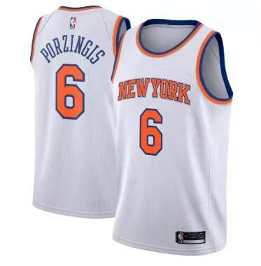 a2745ef2b8e0 Original NBA Small Association Edition White Basketball Clothes NO.6 New  York Knicks For Man