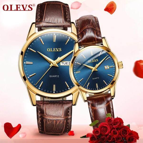 Nơi bán OLEVS đồng hồ cặp Nhập khẩu chính hãng Xu hướng thời trang Không thấm nước Đồng hồ thạch anh Lịch đôi Gửi bạn trai một món quà Gửi bạn gái