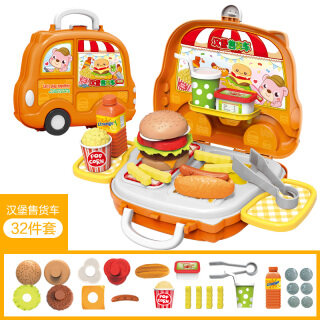 Nhà Chơi Trẻ Em, Đồ Chơi Nhà Bếp, Bộ Đồ Dùng Nhà Bếp Nấu Ăn Và Nấu Ăn Cho Bé Trai Và Bé Gái Xe Đẩy Bán Bánh Mì Kẹp Thịt Kẹo Nướng thumbnail