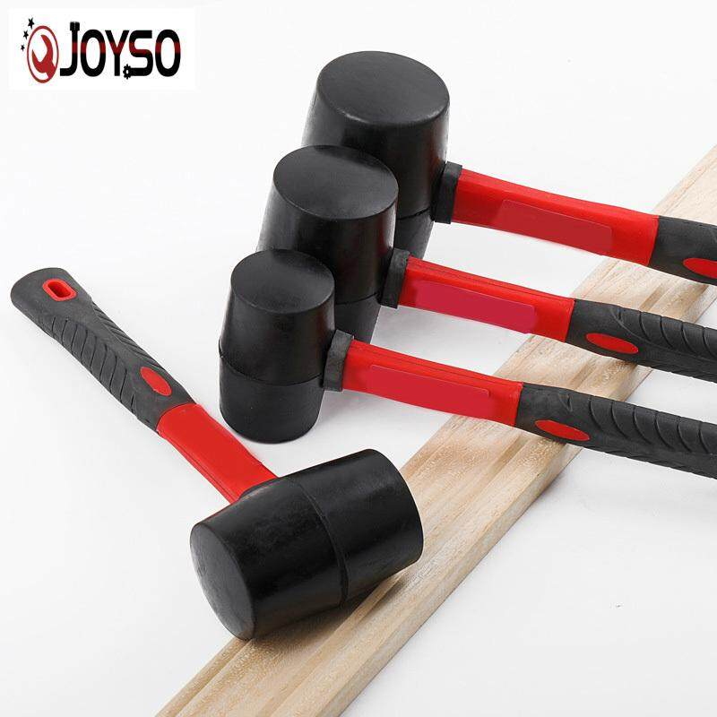 JOYSO Rubber Hammer Mallet 8/12/16/ 24 OZ Decoration Tool Hammers Shaft Handle with Grip Installation