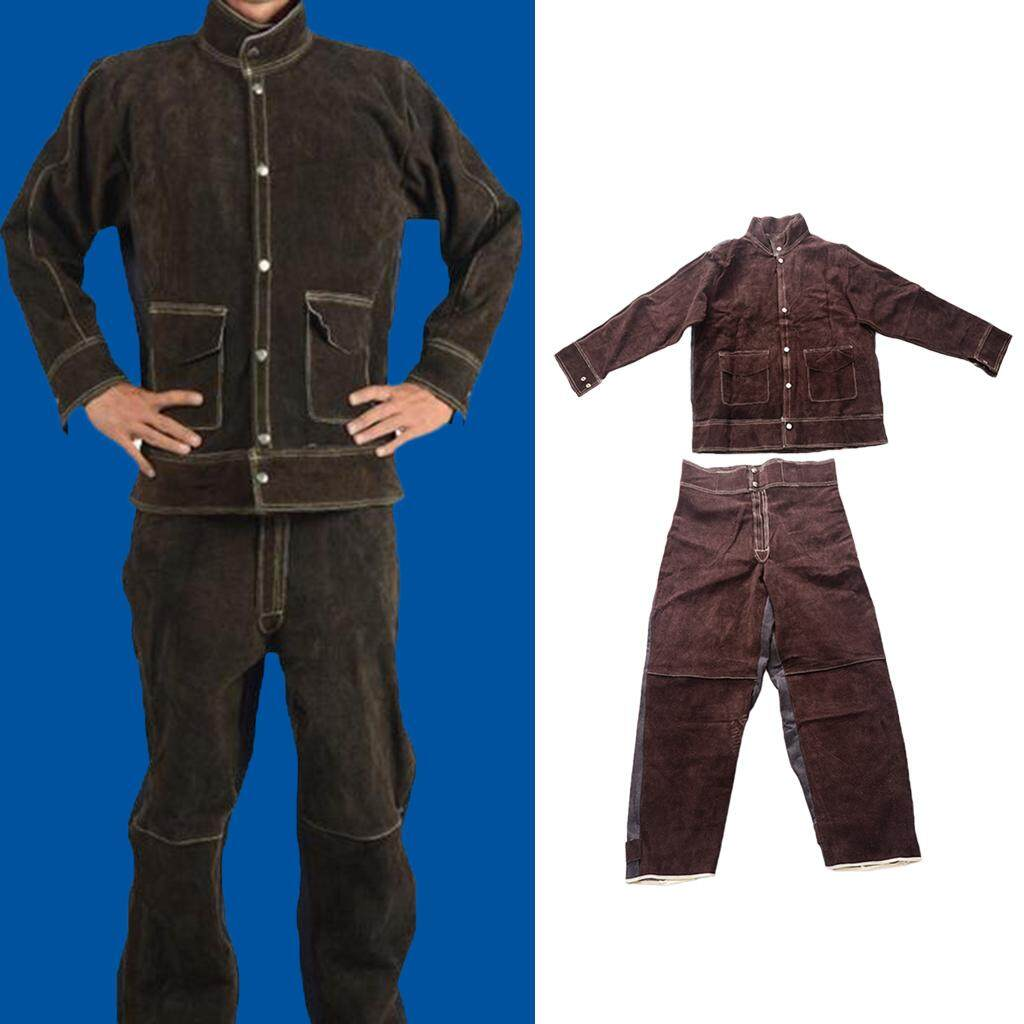 Miracle Shining Welding Jackets & Trousers,Flame Resistant Welding Suits Welder Clothing L